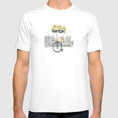 Biking Mens Fitted Tee White SMALL