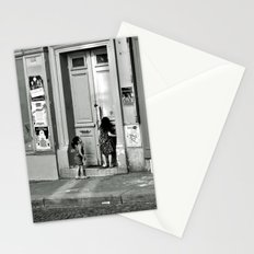 Paris, ringing the door bell Stationery Cards