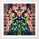 Psychedelic Owl Art Print