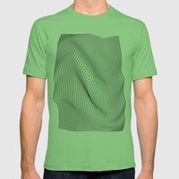Minimal Curves Mens Fitted Tee Grass SMALL