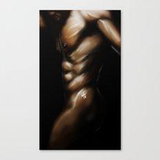 Skin and Light: Man Canvas Print