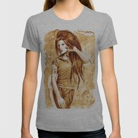 A little Amy in my coffee Womens Fitted Tee Athletic Grey SMALL