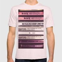 Music  Mens Fitted Tee Light Pink SMALL