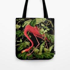Flamingo Black Tote Bag