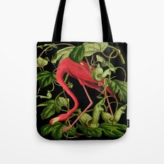 Flamingo Black Tote Bag