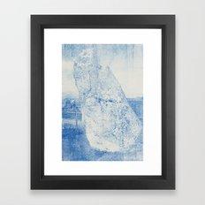 Gum arabic print of rock Framed Art Print