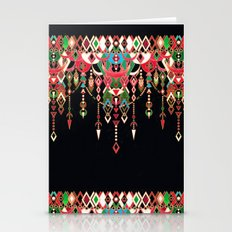 Modern Deco in Red and Black Stationery Cards