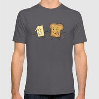 Kaya Toast Mens Fitted Tee Asphalt SMALL