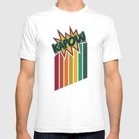 Kapow [Rainbow] Mens Fitted Tee White SMALL