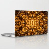 Golden Kaleidoscope Laptop & iPad Skin