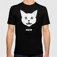 #MEOW Mens Fitted Tee Black SMALL