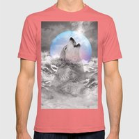 Maybe the Wolf Is In Love with the Moon / Unrequited Love Mens Fitted Tee Pomegranate SMALL