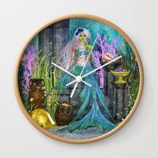 Mermaid Treasure Wall Clock