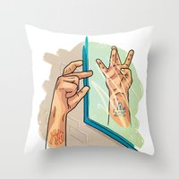 from NY to LA Throw Pillow