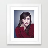 Laura Verlinden, Belgian actress Framed Art Print