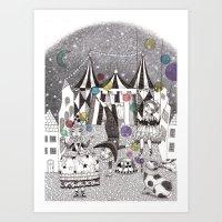 Night Carnival Art Print