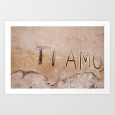 Ti Amo - I love you - Graffiti  Art Print