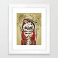 i wear my lucky skull  Framed Art Print
