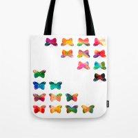 Multicolor butterflies Tote Bag