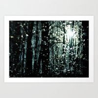 Blue Burns the Twilight Art Print