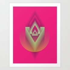 Pink Descent Art Print