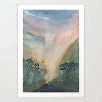 Dark Lake Art Print