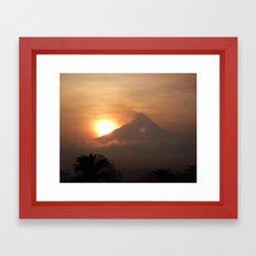 Sunrise over the volcano Framed Art Print