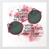 Life By Lennon Art Print