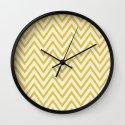 SUNSHINE - YELLOW CHEVRON Wall Clock
