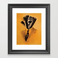 Mr. Microphone Framed Art Print