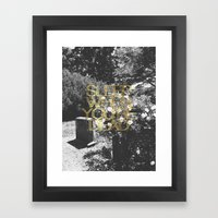 Sleep When You're Dead Framed Art Print