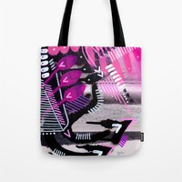 Wave black Tote Bag