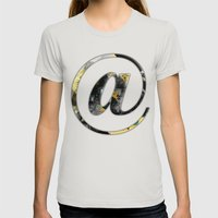 At Sign {@} Series - Bas… Womens Fitted Tee Silver SMALL