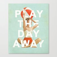 Play The Day Away Canvas Print