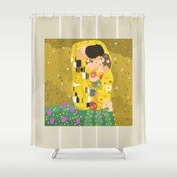 The Kiss (Lovers) by Gustav Klimt  Shower Curtain