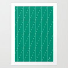 Emerald Triangles by Friztin Art Print