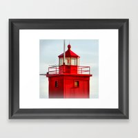 Big Red Lighthouse Framed Art Print