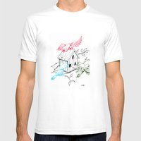 RGBirds Mens Fitted Tee White SMALL