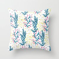 Bright Flowers. Illustra… Throw Pillow