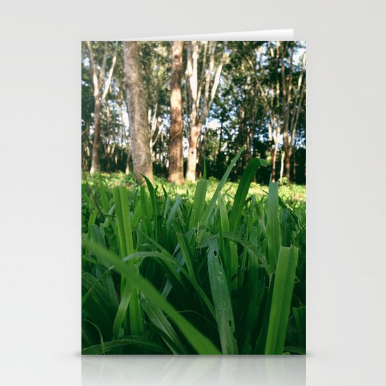 Bed of Grass Stationery Card