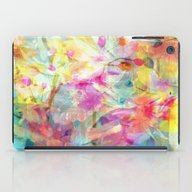 iPad Case featuring Colorful Painterly Sprin… by Judy Palkimas
