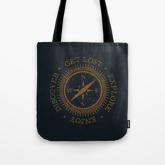GET LOST EXPLORE DISCOVER ENJOY  Tote Bag