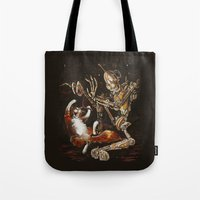 Robot And Cat In The Wil… Tote Bag