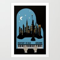 Rhapsody In Blue - Gersh… Art Print
