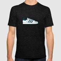 #56 Adidas Superstar Mens Fitted Tee Tri-Black SMALL