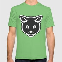 The Black Cat Mens Fitted Tee Grass SMALL