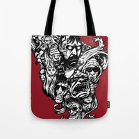 Horror Doodle Tote Bag