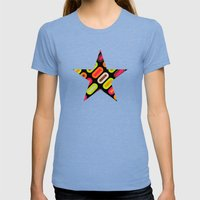 Abrtract II Womens Fitted Tee Tri-Blue SMALL