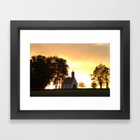 Sunset Church Framed Art Print