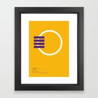 Los Angeles Lakers geometric logo Framed Art Print
